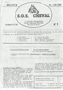 Premier bulletin de l'association en 1980