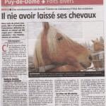 Le 9 octobre 2012 SOS Cheval se portait partie civile dans cette affaire de maltraitance.